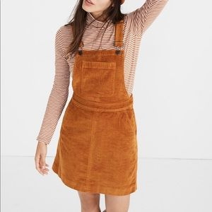 Madewell Corduroy Overall Dress in Carrot Cake 🥕